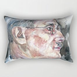 JAMES JOYCE - watercolor portrait Rectangular Pillow