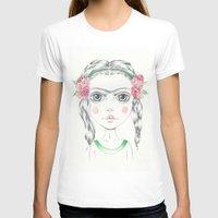 frida kahlo T-shirts featuring frida kahlo by Lisa Bulpin