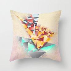 Triangle Rush! Throw Pillow