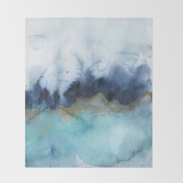 Mystic abstract watercolor Throw Blanket