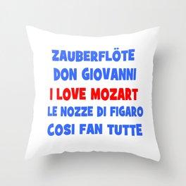 I love Mozart Throw Pillow