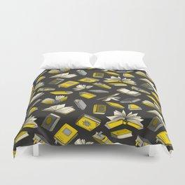 Spellbooks, Yellow Duvet Cover