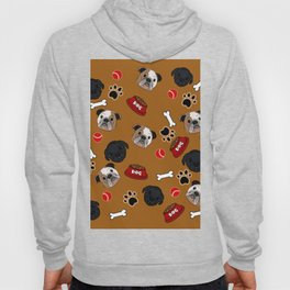 Dogs lovers bulldog and cat Hoody