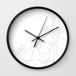 Haleiwa, Hawaii Minimalist Map Wall Clock