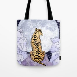 Tiger Moon | Colour Version Tote Bag