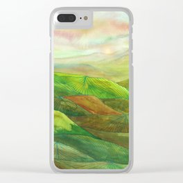 Lines in the mountains XVI Clear iPhone Case