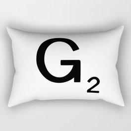 Letter F - Custom Scrabble Tile Letter Art - Scrabble F Rectangular Pillow