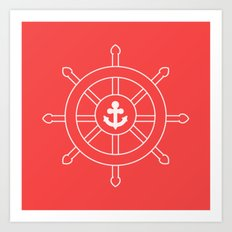 Nautical Wheel Art Print