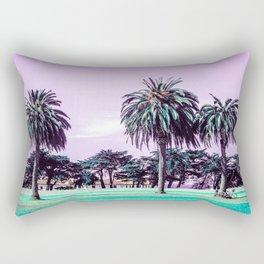 Three palm trees. Rectangular Pillow