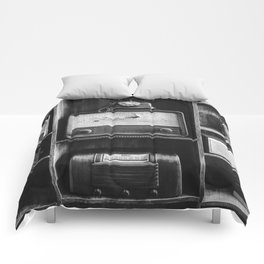 Retro Stand (Black and White) Comforters