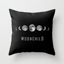 Moonchild - Moon Phases Throw Pillow