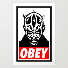 Obey Darth Maul - Star Wars Art Print