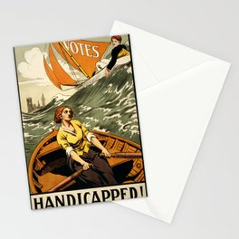 Suffragette Poster, Handicapped! Stationery Cards