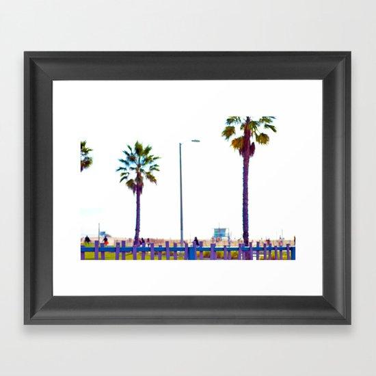 Picket Fence Framed Art Print