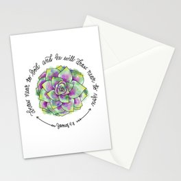 James 4:8 - Draw near to God and he will draw near to you Stationery Cards