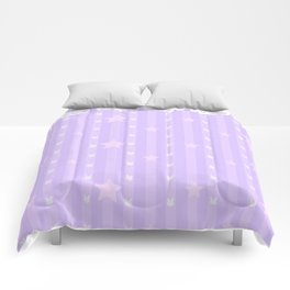 Kawaii Purple Comforters