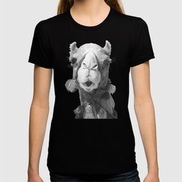 Black and White Camel Portrait T-shirt