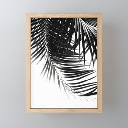 Palm Leaves Black & White Vibes #1 #tropical #decor #art #society6 Framed Mini Art Print