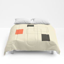 Geometric Abstract Art Comforters