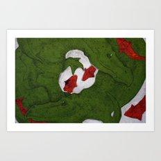 Underwater Crocs Art Print