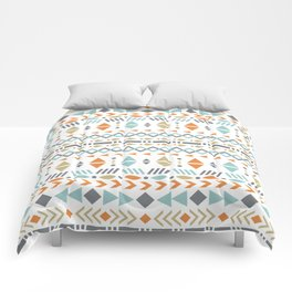 Southwestern Tribal Modern Geometric Stripes of Arrows Chevrons Diamonds Leaves Triangles Circles Comforters