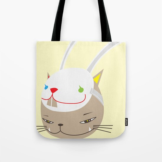 CAT WITH RABBITZ MASK Tote Bag