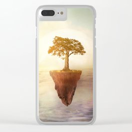 Floating tree Clear iPhone Case