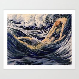 """""""Two fishes swimming in the sea not more lawless than we"""" Art Print"""