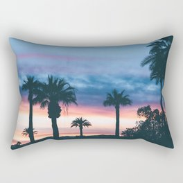 Faded Tropical Sunset (Color) Rectangular Pillow