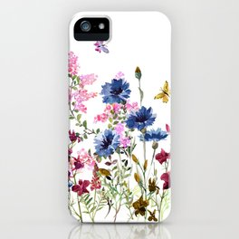 Wildflowers IV iPhone Case