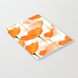 Orange Poppies On A White Background #decor #society6 #buyart Notebook