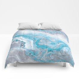 Ocean Foam Mermaid Marble Comforters