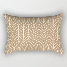 Chevron Light Brown Rectangular Pillow