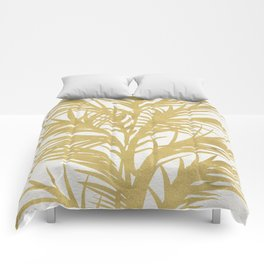 Gold Palms Comforters