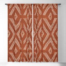 Birch in Rust Blackout Curtain