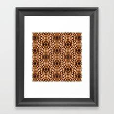 Leopard Print Kaleidoscope Abstract Framed Art Print
