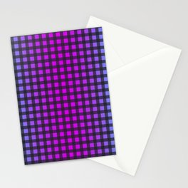 Colorful Gingham Stationery Cards