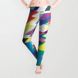 Layers Triangle Geometric Pattern Leggings