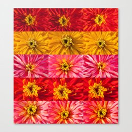 """Mosaic """"Colored flowers"""" Canvas Print"""