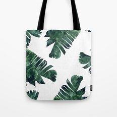 Banana Leaf Watercolor Pattern #society6 Tote Bag