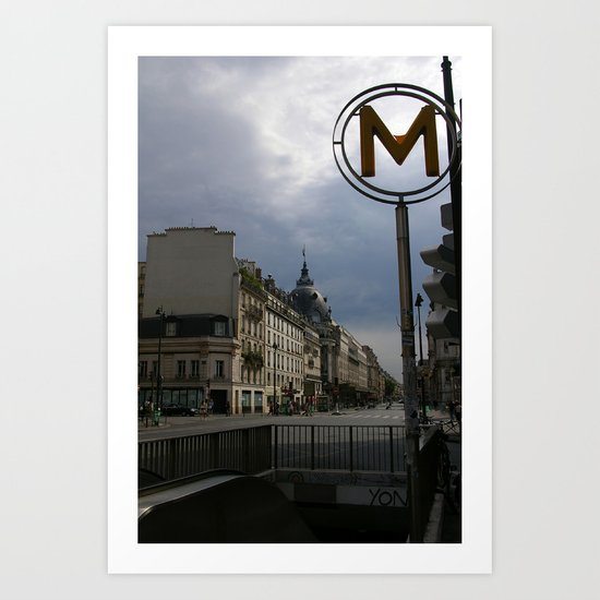 Street Scene, Paris, France Art Print