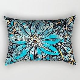 Clematis Blue Fantasia Rectangular Pillow