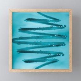 Drops in Spiral Fresh Turquoise Color #decor #society6 #buyart Framed Mini Art Print