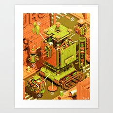Super Tanklord Anatomy Art Print