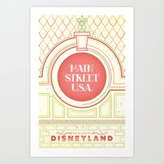 Main Street USA Art Print