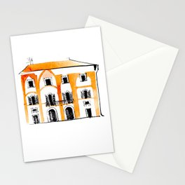 Watercolor illustration of Italian palazzo Stationery Cards