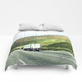 California mountains Comforters