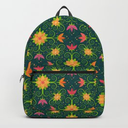 Nordic Traditional Floral (pattern) Backpack