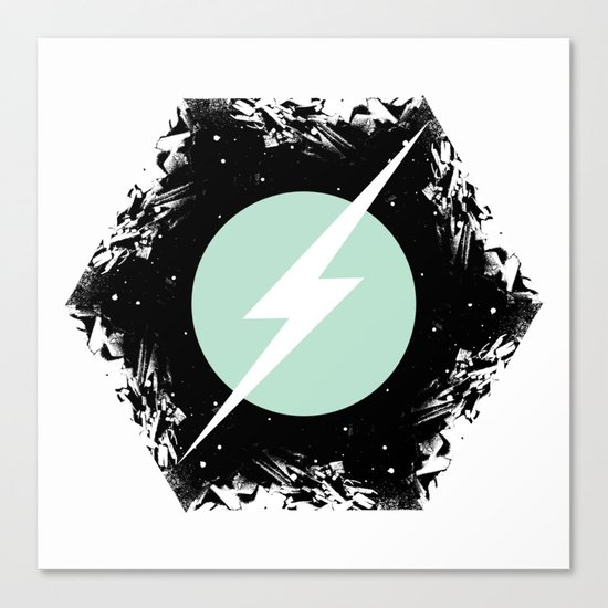 BOLT THROUGH PORTAL. Canvas Print