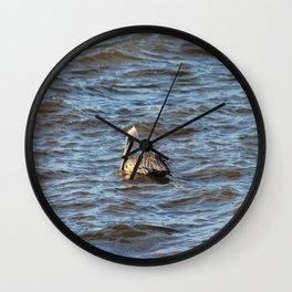 Enjoying the water Wall Clock